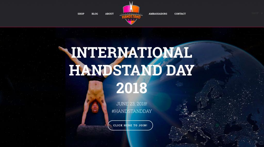 International handstand day