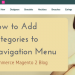 How to Add Categories to Top Navigation Menu in Magento 2